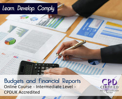 Budgets and Financial Reports - Online Training Course - The Mandatory Training Group UK -
