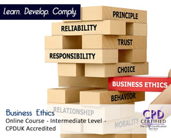 Business Ethics - Online Training Course - The Mandatory Training Group UK -