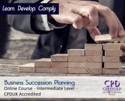 Business Succession Planning - Online Training Course - The Mandatory Training Group UK -