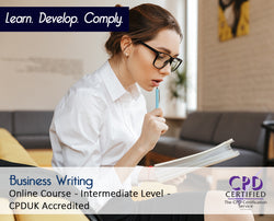 Business Writing - Online Training Course - The Mandatory Training Group UK -