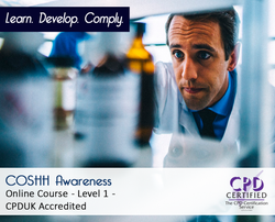 COSHH Awareness - Level 1 - E-learning Course - CPDUK Certified
