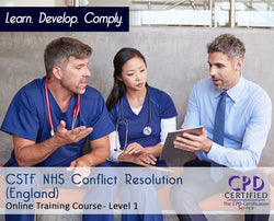 CSTF NHS Conflict Resolution (England) - Online Training Course - The Mandatory Training Group UK -