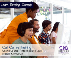 Call Centre Training - Online Training Course - The Mandatory Training Group UK -