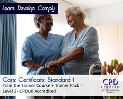 Care Certificate Standard 1 - Train the Trainer Course + Trainer Pack - CPDUK Accredited - The Mandatory Training Group UK -