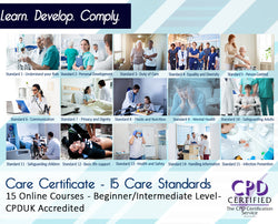 Care Certificate – 15 Standards  - Online Training Course - The Mandatory Training Group UK -