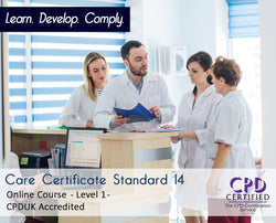 Care Certificate Standard 14 - Online Training Course - The Mandatory Training Group UK -