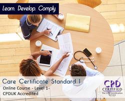 Care Certificate Standard 1 - Online Training Course - The Mandatory Training Group UK -