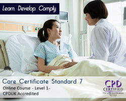Care Certificate Standard 7 - Online Training Course - The Mandatory Training Group UK -