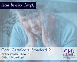 Care Certificate Standard 9 - Online Training Course - The Mandatory Training Group UK -