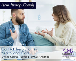 Conflict Resolution in Health and Care - Online Training Course - The Mandatory Training Group UK -