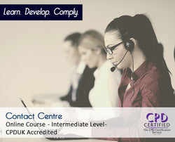 Contact Centre - Online Training Course - The Mandatory Training Group UK -