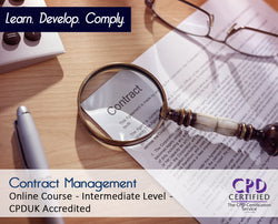 Contract Management - Online Training Course - The Mandatory Training Group UK -