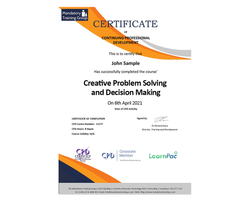 Creative Problem Solving and Decision Ma  - eLearning Course - CPD Certified - LearnPac Systems UK -