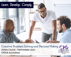 Creative Problem Solving and Decision Making  - Online Training Course - The Mandatory Training Group UK -