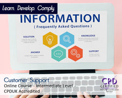 Customer Support - Online Training Course - The Mandatory Training Group UK -
