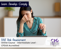 DSE Risk Assessment  - Online Training Course - The Mandatory Training Group UK -