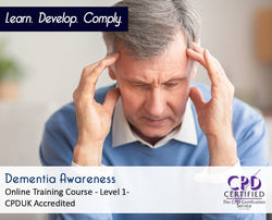 Dementia Awareness - Online Training Course - CPD Accredited - The Mandatory Training Group UK -