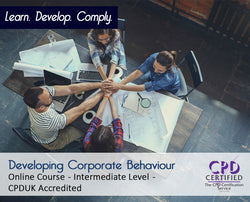 Developing Corporate Behaviour - Online Training Course - The Mandatory Training Group UK -