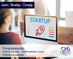 Entrepreneurship - Online Training Course - The Mandatory Training Group UK -