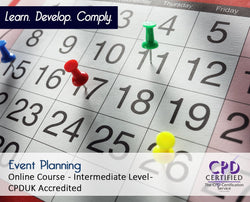 Event Planning - Online Training Course - The Mandatory Training Group UK -