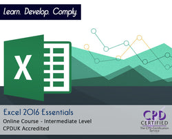 Excel 2016 Essentials - Online Training Course - The Mandatory Training Group UK -
