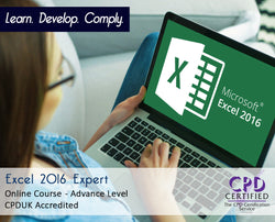Excel 2016 Expert - Online Training Course - The Mandatory Training Group UK -