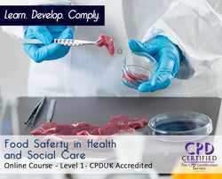 Food Safety in Health and Social Care - Online Training Course - The Mandatory Training Group UK -