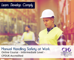 Manual Handling Safety at Work  - Online Training Course - The Mandatory Training Group UK -