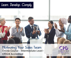 Motivating Your Sales Team - Online Training Course - The Mandatory Training Group UK -
