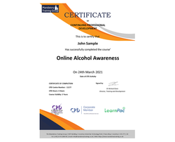 Online Alcohol Awareness  - E-Learning Course - CPDUK Certified - The Mandatory Training Group UK -