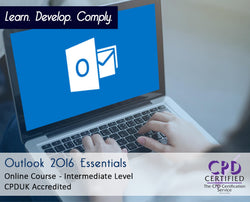 Outlook 2016 Essentials - Online Training Course - The Mandatory Training Group UK -