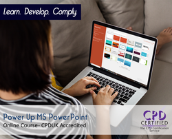 Power Up MS PowerPoint - Online Training Course - The Mandatory Training Group UK -