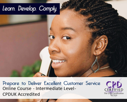 Prepare to Deliver Excellent Customer Service  - Online Training Course - The Mandatory Training Group UK -