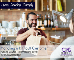 Handling a Difficult Customer - Online Training Course - The Mandatory Training Group UK -