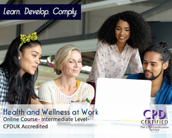 Health and Wellness at Work - Online Training Course - The Mandatory Training Group UK -