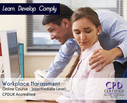Work Place Harassment - Online Training Course - The Mandatory Training Group UK -