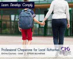Professional Chaperone for Local Authorities - CPDUK Accredited - The Mandatory Training Group UK -