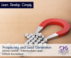 Prospecting and Lead Generation - Online Training Course - The Mandatory Training Group UK -