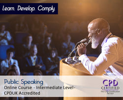 Public Speaking - Online Training Course - The Mandatory Training Group UK -