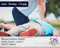 Resuscitation Adult - Level 2 - Online Training Course - The Mandatory Training Group UK -