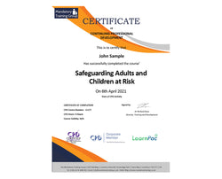 Safeguarding Adults and Children at Risk - eLearning Course - CPD Certified - The Mandatory Training Group UK -