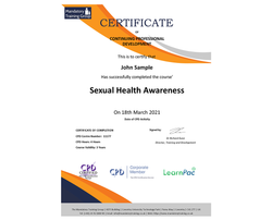 Sexual Health Awareness - eLearning Course - The Mandatory Training Group UK -
