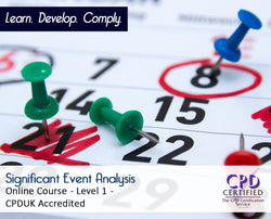 Significant Event Analysis - CPDUK Accredited - The Mandatory Training Group UK -