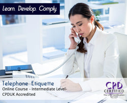 Telephone Etiquette - Online Training Course - The Mandatory Training Group UK -