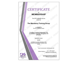 CSTF Infection Prevention & Control Level 2 - Online Training Course - The Mandatory Training Group UK -