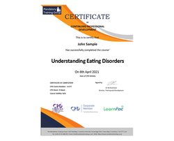 Understanding Eating Disorders - eLearning Course - CPD Certified - The Mandatory Training Group UK -
