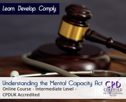 Understanding the Mental Capacity Act  - Online Training Course - The Mandatory Training Group UK -