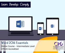 Word 2016 Essentials - Online Training Course - The Mandatory Training Group UK -
