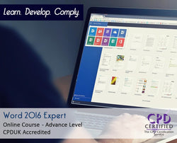 Word 2016 Expert - Online Training Course - The Mandatory Training Group UK -