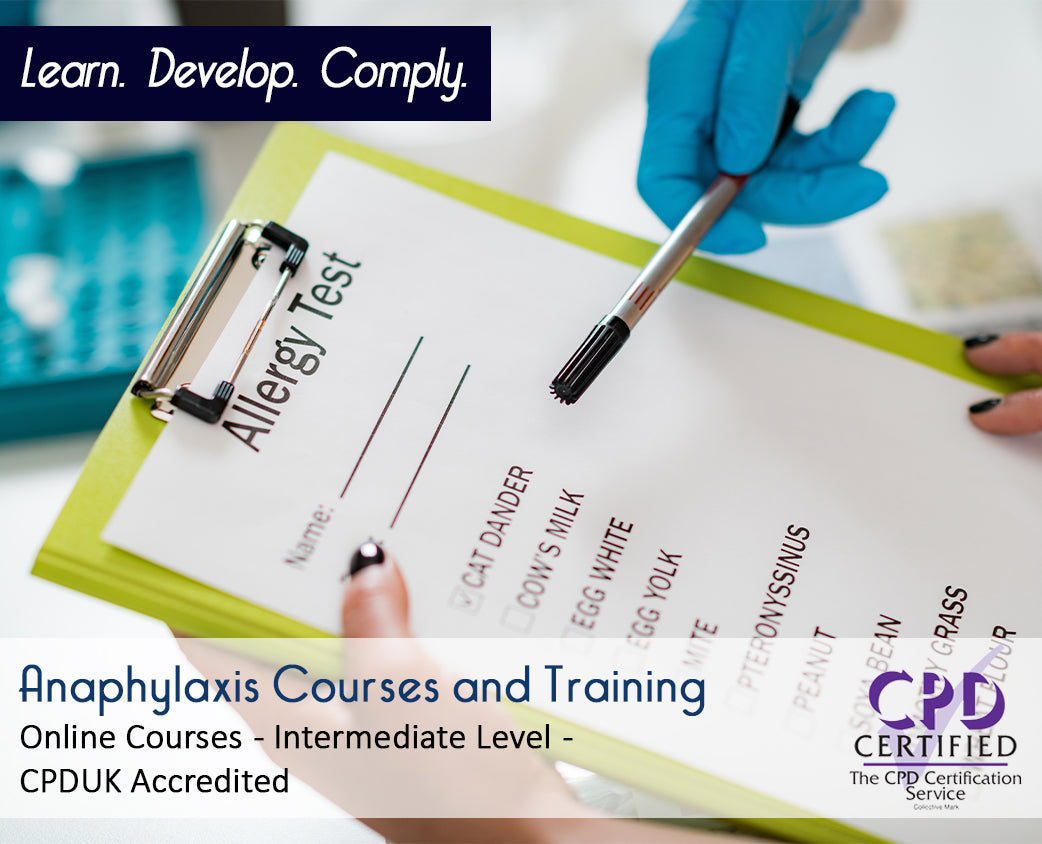 Online Anaphylaxis Courses and Training - eLearning Course - The Mandatory Training Group UK -